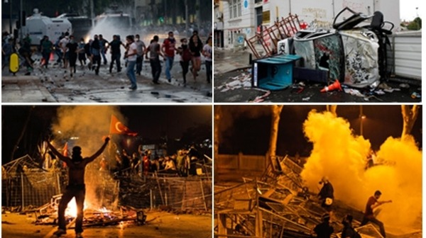 Violent Turkish Spring AFP