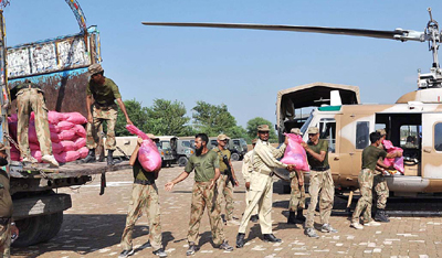 Pak Army distributes 45 tons of food among drought-affected people in Tharparker