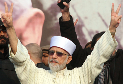 Tahir ul Qadri, Democracy, Protest,