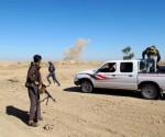 Tribal fighters take part in an intensive security deployment against Islamic State militants in the town of Amriyat al-Falluja in Anbar province