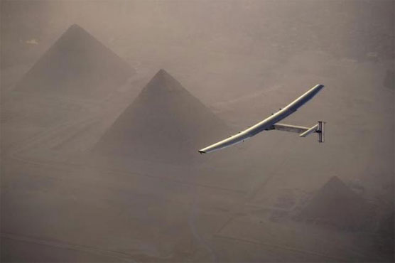 Solar airplane heads to Egypt from Spain on round-the-world trip