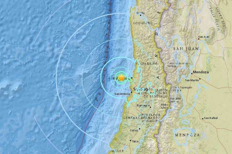 Earthquake Strikes Off Chile Coast; No Reports of Damage, Injuries