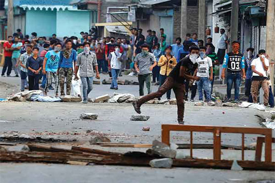 Clashes break out between security forces, protesters in J&K's Shopian, civilian killed