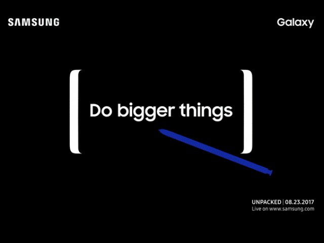 Galaxy Note 8 Will Debut at August 23 Event