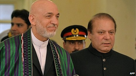 President Karzai Prime Minister Sharif in Islamabad. Aug 2013 Hamid Karzai also met Nawaz Sharif in Islamabad in August
