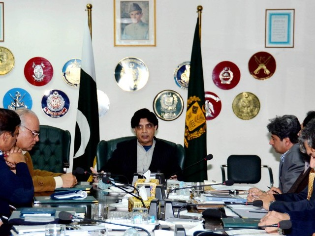 Security Policy, Pakistan, Interior Minister, Ch. Nisar Ali Khan