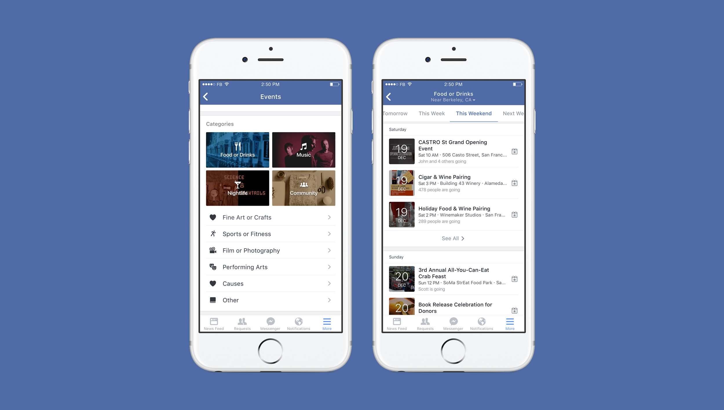 how to create event on facebook app