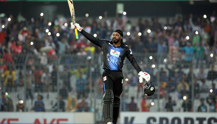 Gayle breaks sixes record in Bangladesh Premier League final