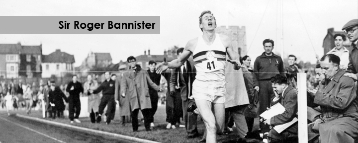 Sir Roger Bannister First Person To Run A Mile In Under border=