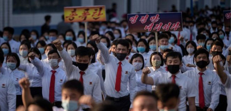 North Korea halts all communications with South in row over leafleting